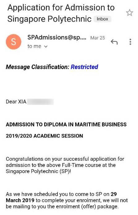 Xia Chenhao SP - Diploma in Maritime Business