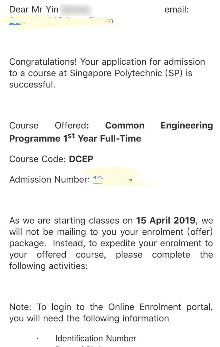 Yin Qiuhao SP - Common Engineering Programme