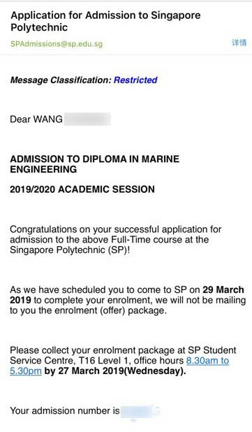 WANG HAOQIAN SP -Diploma in Marine Engineering