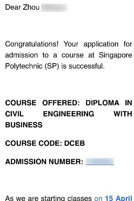 Zhou Wenjun SP - Diploma in Civil Engineering with Business