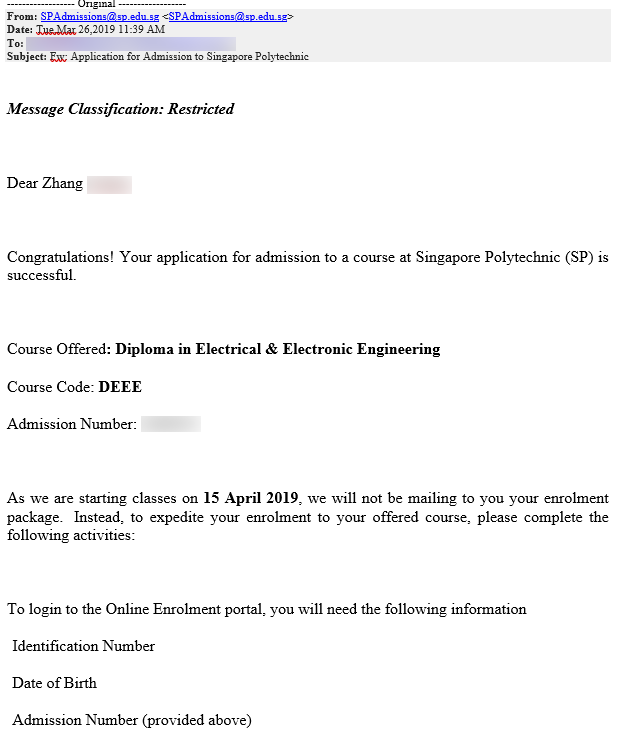 Zhang Yuting SP - Diploma in Electrical & Electronic Engineering